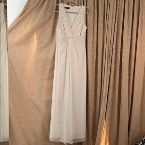Nine West Cream Empire Waist Gown